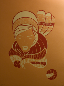 "Image of ""Art, Rock, Dance"" Silk Screen Show Poster"