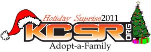 "Image of KCSR.org ""Holiday Suprise"" Adopt-a-Family Donation 2011"
