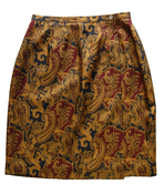 Image of 100% Silk Paisley Pattern Skirt