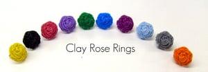 Image of Ruffled Rose Clay Ring