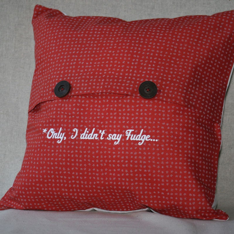 Image of Oooh, Fudge! Pillow