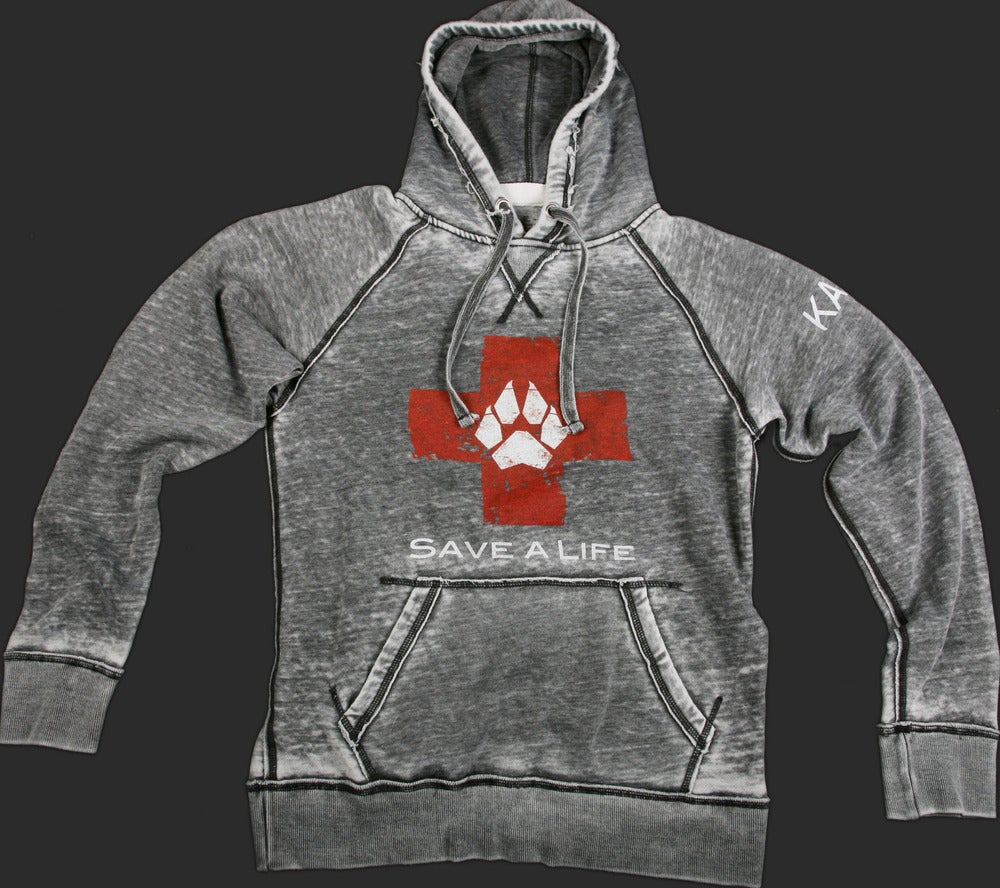Image of Save-A-Life Burnout Pull-Over Hoodie - Charcoal