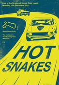 Image of Hot Snakes Silkscreen Poster