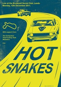 Image of Hot Snakes Silkscreen Poster