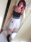 Image of purple poppy skirt