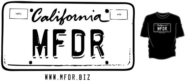 Music For Dope Runs California License Plate T-Shirt