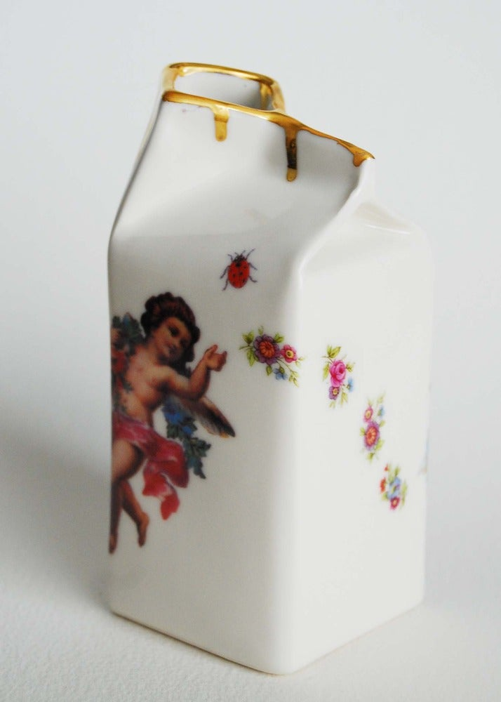 Image of Drippy Gold & Cherub Milk Jug