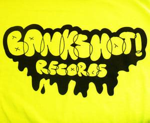 Image of BANKSHOT! Records Graffitti Logo S/S Shirt (Neon Yellow)