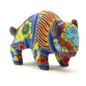 Image of Fabulous Huichol Indian Beaded Bison -SOLD