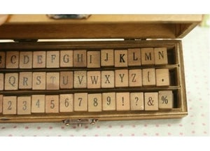 Image of Stamp Set - alphabet, number & grammar