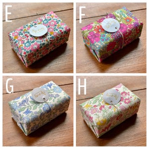 Image of Liberty Fabric Wrapped Soap