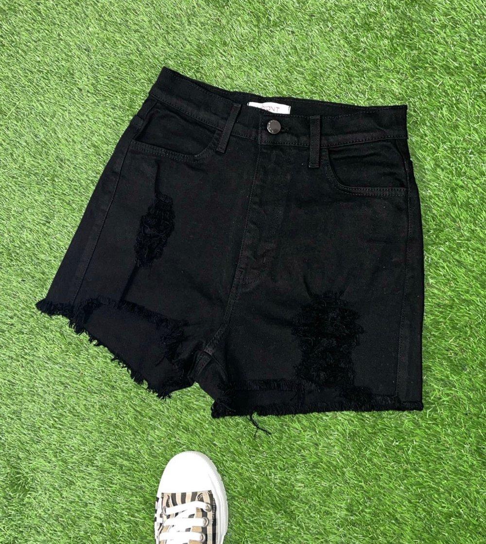Image of Black Denim | Shorts
