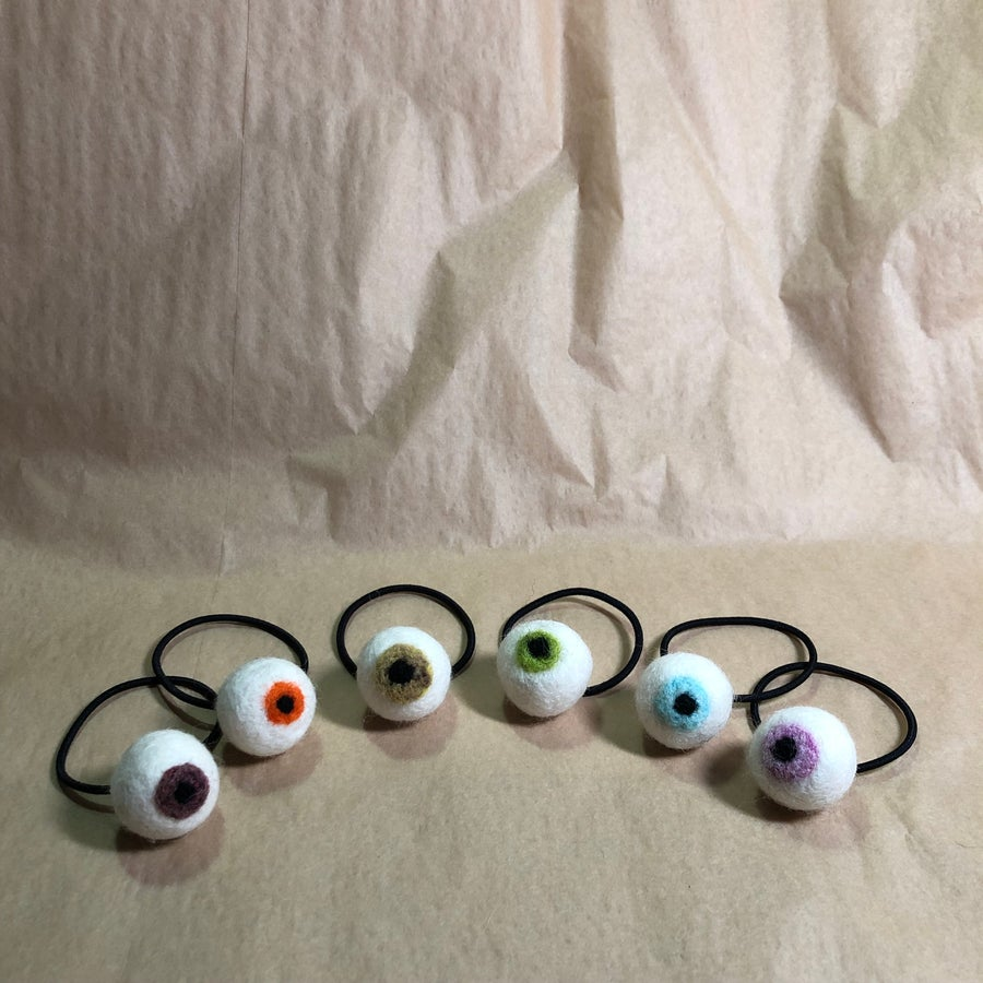 Image of eyeball hair ties!