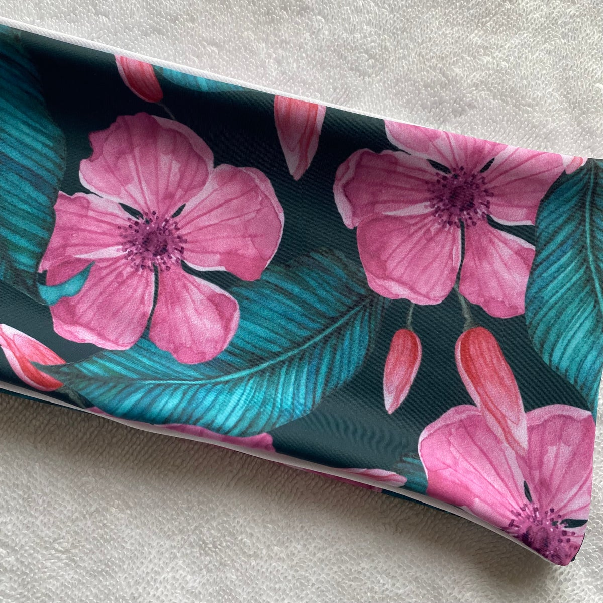 Image of SAMPLE BANDEAU : TROPICAL BLOOM X WHITE