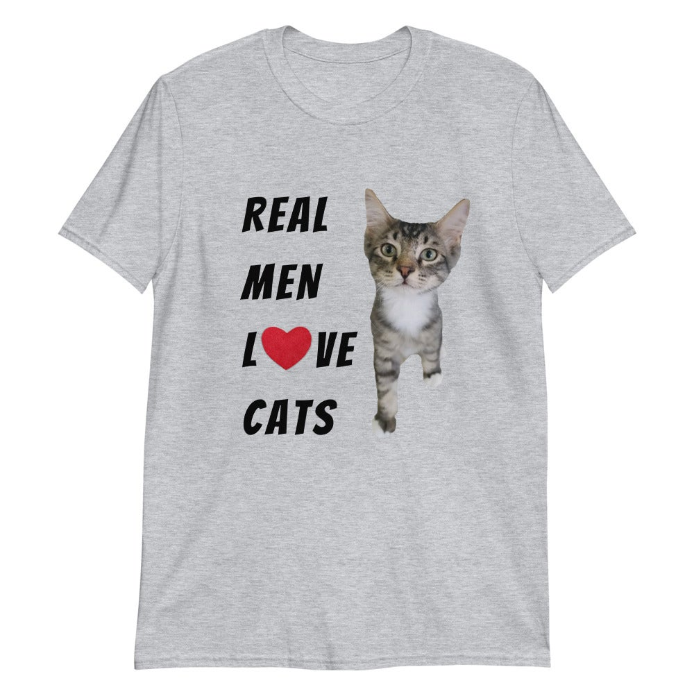 """Image of 4 Paws """"Real Men Love Cats"""" - T-Shirt"""