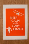 Image of Keep Calm and Cary Grant print, large