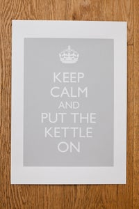Image of Keep Calm and Put the Kettle On (single colour) print