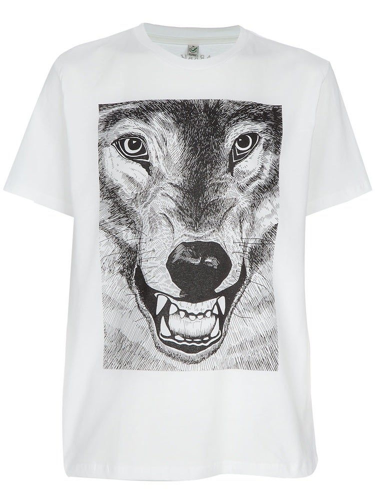 "Image of Arran Gregory ""Wolf"" print T-Shirt for JaguarShoes Collective"