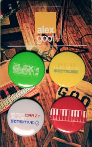 "Image of ""Goot Music"" buttons! (4-pack)"