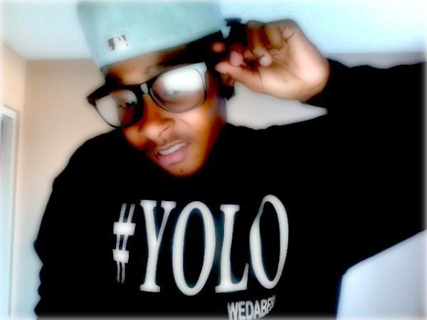 Image of BLACK #YOLO CREWNECK