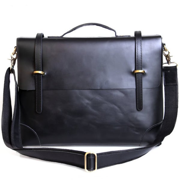 "Image of Handmade Genuine Leather Briefcase / Messenger / 13"" 14"" Laptop 13"" 15"" MacBook Bag Bag (n364)"