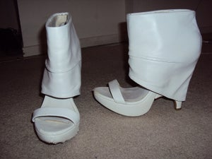 Image of ASOS White Cut Out Bootie Size 6