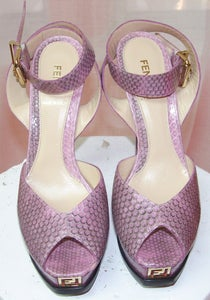 Image of Fab Fendi Snakeskin Platforms