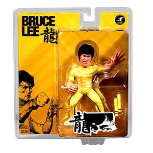"Image of Bruce Lee 6"" Figure - Game of Death with Nunchucks"
