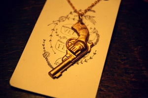 Image of Brass Pistol Necklace