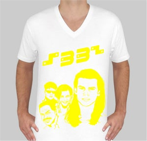 Image of Faces white v-neck
