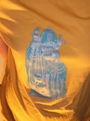Image of HECTICRECS LOGO SHIRT silver and blue on yellow