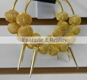 Image of Spiked Out Mesh Earrings