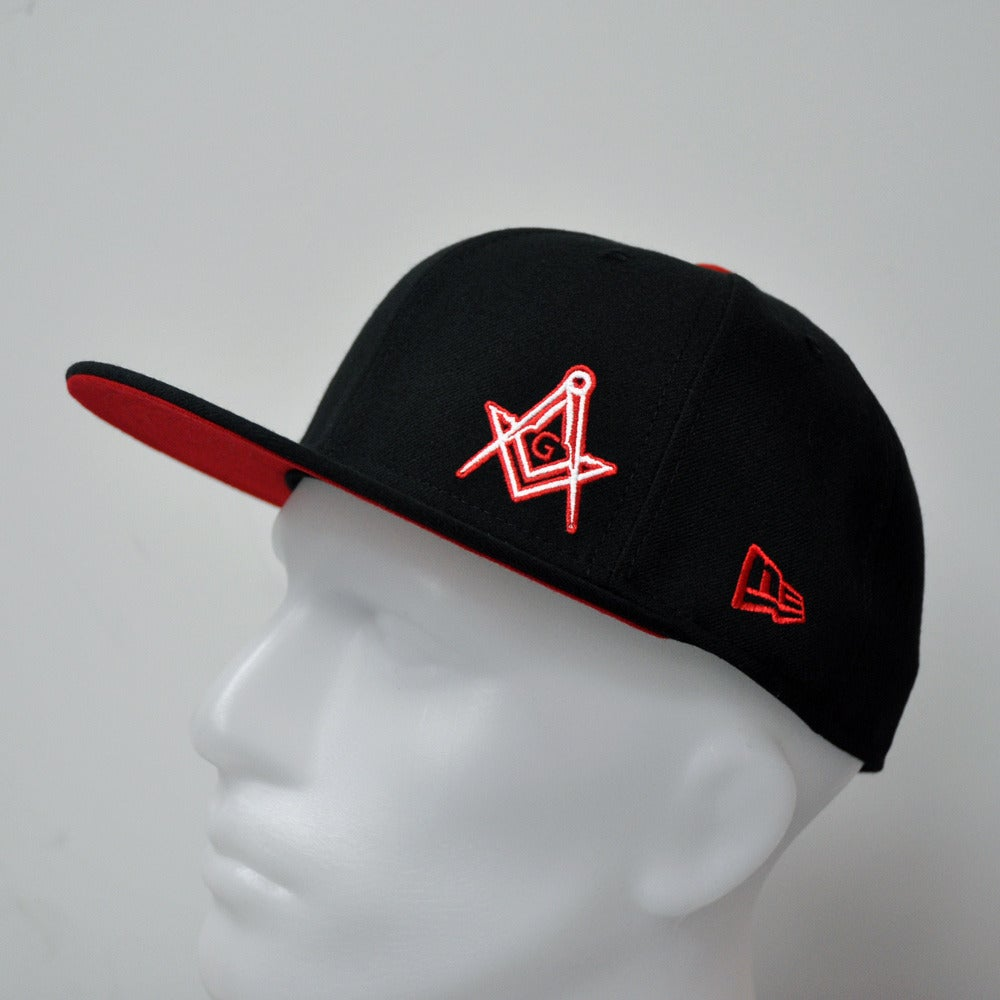 Image of New Era 5950 Fitted Cap - Black-Scarlett Flawless