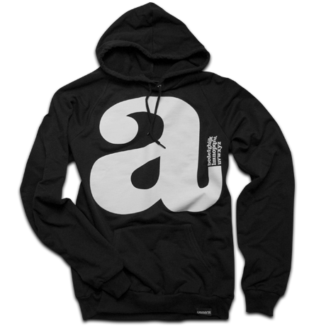 Image of LOWERCASE (BLACK HOODY)