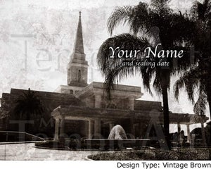Image of Orlando Florida LDS Mormon Temple Art 001 - Personalized LDS Temple Art