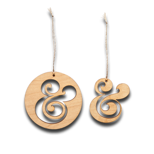 Image of AMPERSAND ORNAMENTS (SET OF 2)