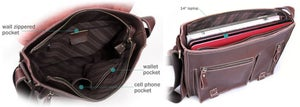 "Image of Handmade Genuine Leather Messenger Satchel / 11"" MacBook Air or 12"" Laptop Bag (n54)"