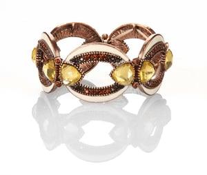 Image of Slave and Master Swarovski crystal stretch bracelet