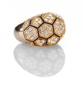 Image of Crown Jewel Swarovski Crystal cocktail ring
