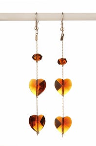 Image of Heart drop earring