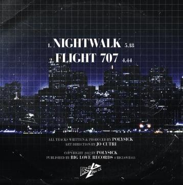 "Image of POLYSICK ""NIGHTWALK"" 7"""