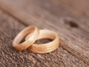 Image of Ancient Timber Bentwood Anniversary Rings