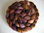 "Image of Sold Out, ""Purple Cat"", Hand-Dyed Devon, 4.5 oz, Fiber for Spinning, Felting, and Doll Hair"