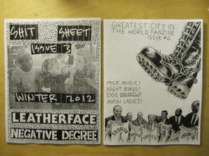 Image of Greatest City In The World #2 / Shit Sheet #3 Split Fanzine (SHR006)