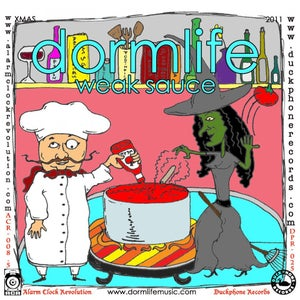 "Image of DORMLIFE/DR MANHATTAN ""Hot Sauce/Weak Sauce"" Split 7-Inch Single on RED VINYL"