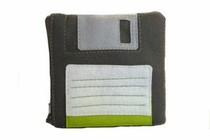 Image of Floppy Disk Pouch - Dark Grey