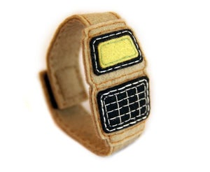 Image of Calculator Watch Bracelet - Beige