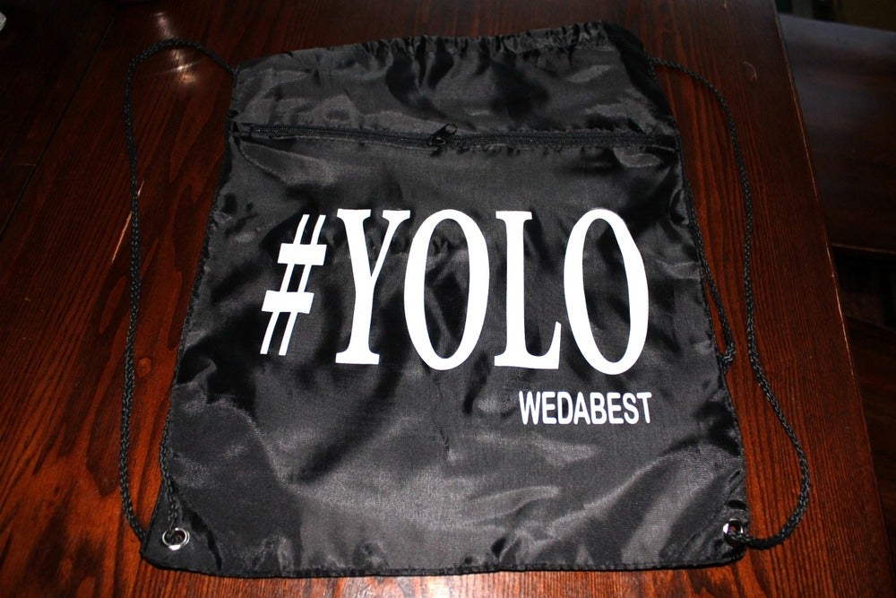 Image of #YOLO BACKPACK BY #WEDABEST