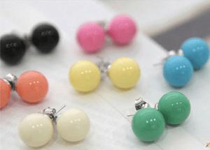 Image of Korean Style Bead Studs (Large)