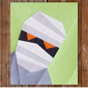 "Image of Mumford the Mummy 8"" x 10"" Quilt Block Pattern PDF"